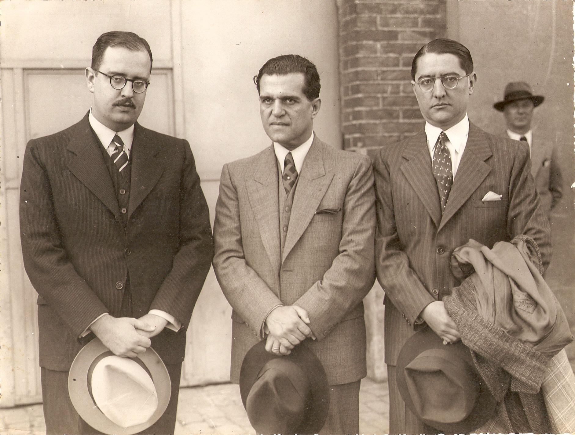 Com Affonso Arinos e O embaixador Luzardo