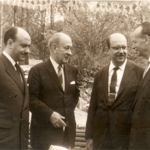 Com os embaixadores do Chile, México e Argentina – 1/1962 – Punta del Este