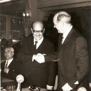 Com Dean Rusk na Conferência de Punta del Este - Jan 62